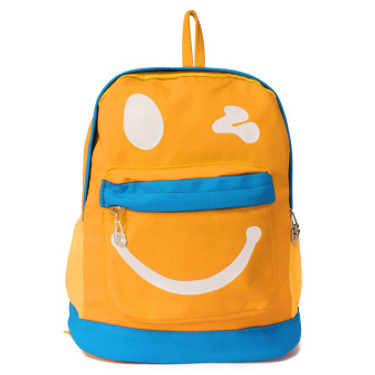 Harga Kids Backpack Childrens Bag Cartoon Lovely Character Smile Face Canvas Children School Bags Kindergarten Multicolor Cute Yellow