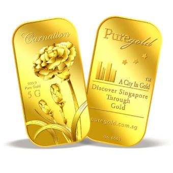 Harga Puregold.sg 5g Carnation Gold Bar