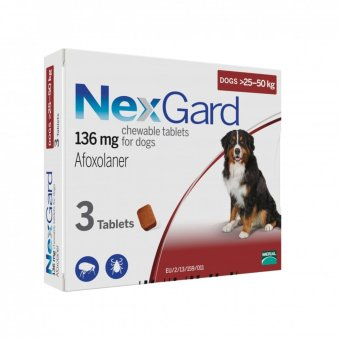Harga NexGard Chews For Large Dogs 25-50kg - 3 Pack