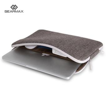 Harga GEARMAX Laptop Bag for Macbook 13.3 Anti-dust Case Felt Sleeve (Coffee) - intl
