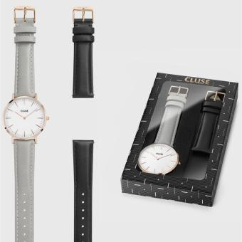 Harga CLUSE LA BOHÈME GIFT BOX ROSE GOLD WHITE/GREY + BLACK STRAP CLA001