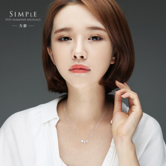 Japan and South Korea simple sweet birthday gift s925 sterling silver brushed sugar block pendant short paragraph clavicle necklace female models
