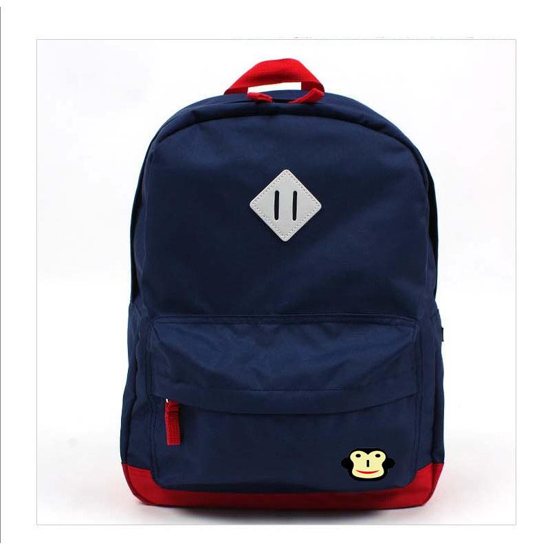 Kids Backpack Child Bag Big Size (Color : Navy Blue