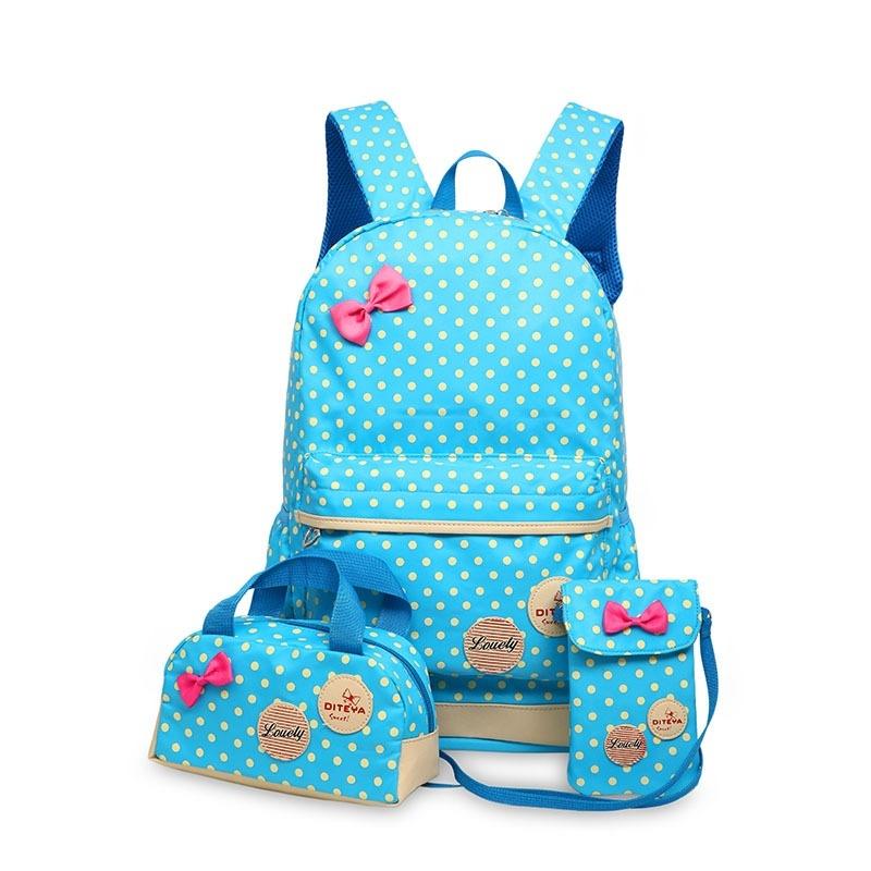 Kids Bag Korean Primary School Students Bags Cute Princess Backpack Three Sets Women Shoulders Children Bag - intl