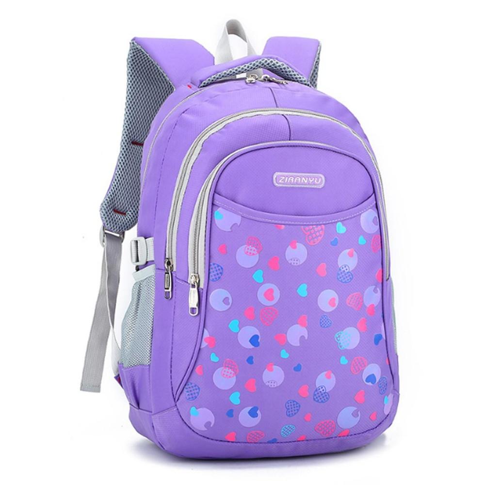 Kids Boys Girls Large School Bags Backpack Shoulder Bookbags Fashion  Rucksack Purple - intl d444d1b020
