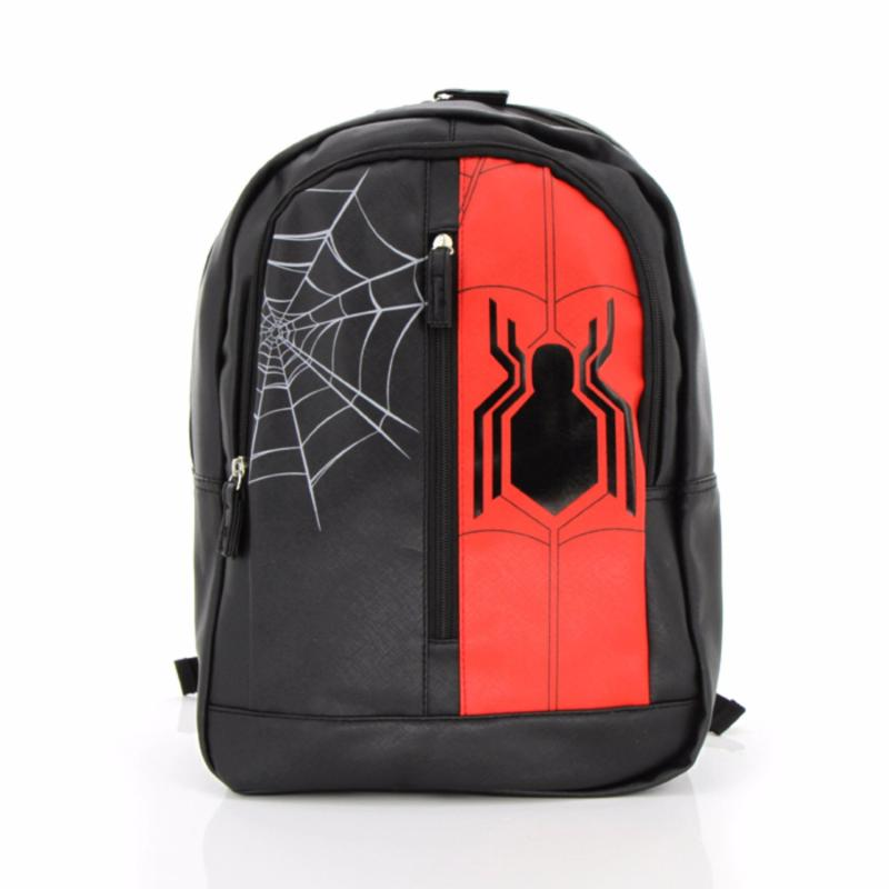 """Kidztime X Marvel Spiderman Backpack 16"""" Black and Red"""