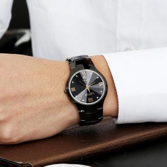 YAZOLE Vintage Men Leather Band Fashion Stainless Steel Sport Bussiness Quartz Wrist Watch YZL313H A