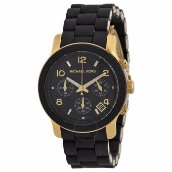 Michael Kors Catwalk Chronograph Women's Black Rubber Strap Watch MK5191