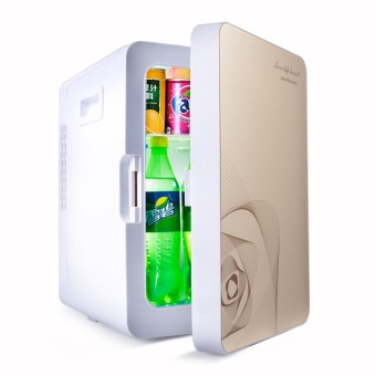 Mini Fridge Refrigerator Dormitory Heating Box for Cosmetics Refrigerated Dual-purpose Car - intl