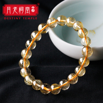 Month Old temple Church natural gold hair crystal yellow haircrystal bracelets bracelet