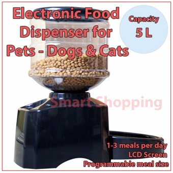 Pet Food Feeder Electronic Automatic 3 times per day 5L - Dogs& Cats
