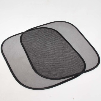 Practical One Pair Foldable Car Side Window Screen Mesh Sun Shade Block - intl - 4