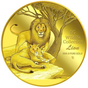 Harga Puregold Wildlife Lion Gold Coin 5g.