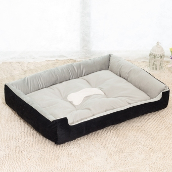 Harga Removable Puppy Cat Dog Bed Cushion Blanket Kennel Pet House M(Black)