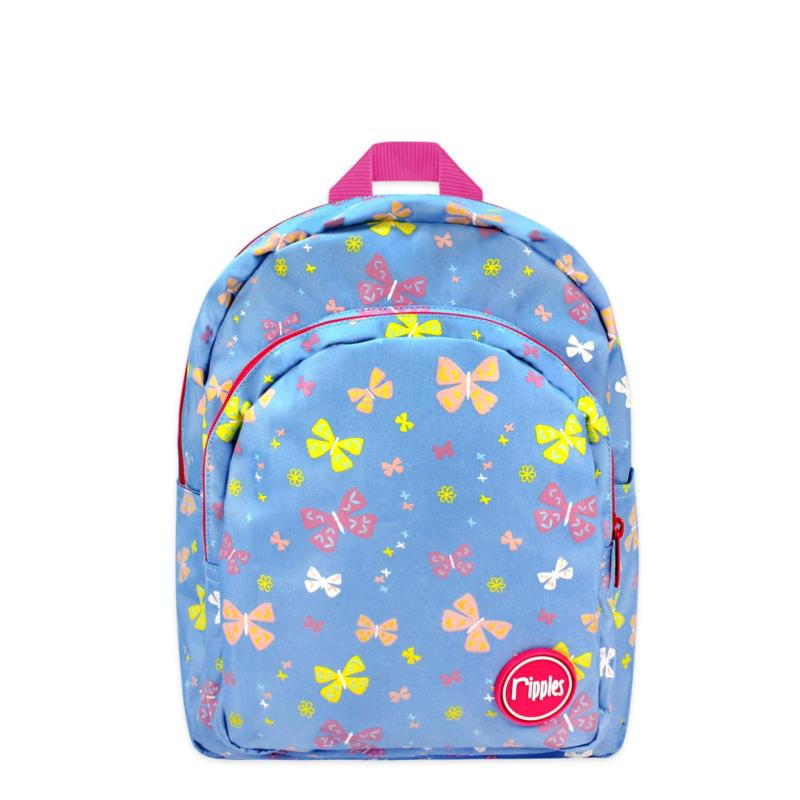 Ripples Kids Backpack Myra Butterfly (Mid Blue)
