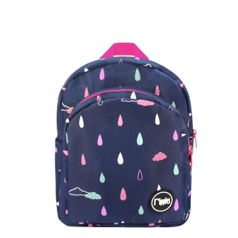 Ripples Kids Backpack Raindrop Cloud (Navy Blue)
