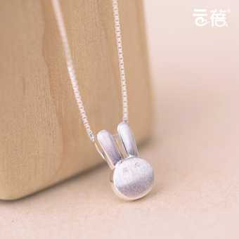 S925 creative short paragraph New Year gift accessories sterling silver necklace