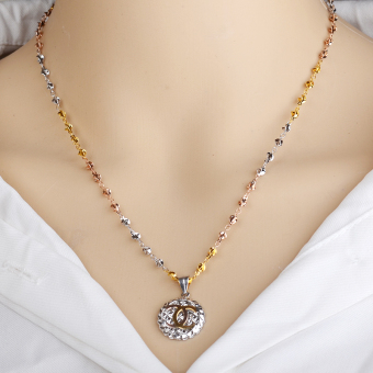 S925 female color silver star fruit choker necklace