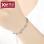 S925 silver three layer day Korean-style delicate birthday gift bracelet