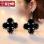 S925 simple girl's day elegant sterling silver earrings stud
