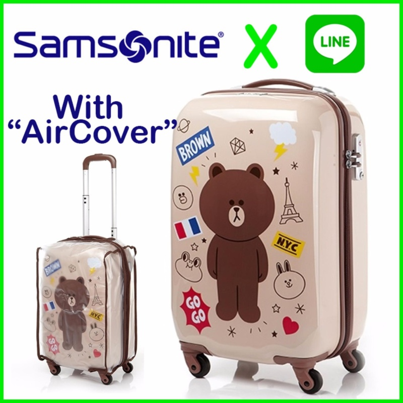SAMSONITE and LINE FRIENDS KOREA Travel Carrier Luggage SuitCase 20 inch - intl