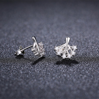 Harga Shishang wishing tree women's men earrings silver stud