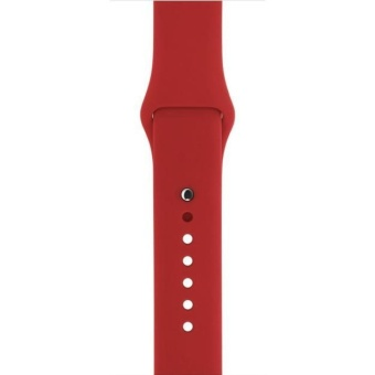 Short Sports Silicone Bracelet Strap Band For Apple Watch 38mm RD -intl - 4