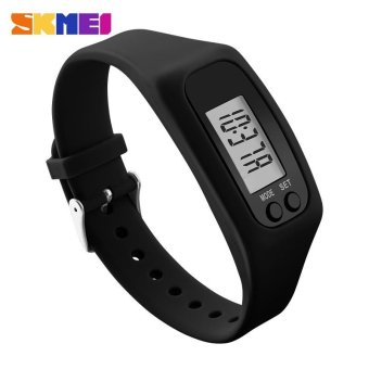 SKMEI Women Silicone Strap Wristwatches Sports Watches Pedometer Watches - intl