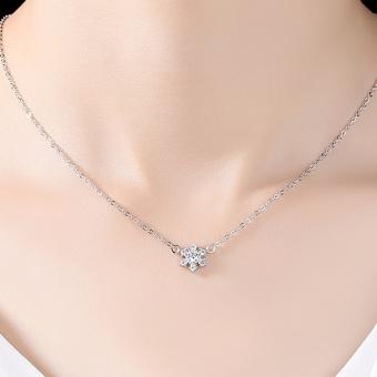 Snow mtc3ahhwzq female clavicle chain silver necklace
