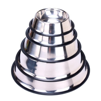Stainless Steel Pet Bowl Stainless Steel Color - L - intl