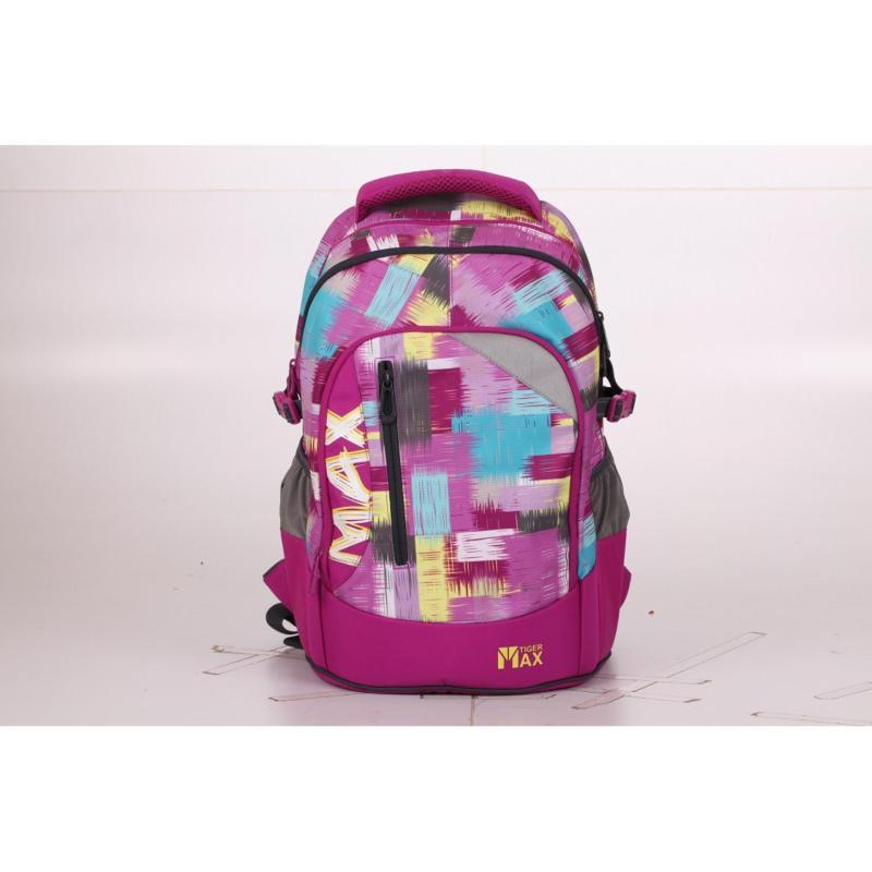 Tiger Family Ergonomic Schoolbag - Max (Purple Grunge)