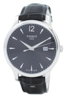 Tissot T-Classic Tradition Quartz Women's Leather Black Strap Watch T063.610.16.087.00