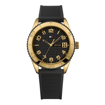 Harga Tommy Hilfiger Black Dial Black Rubber Strap Ladies Watch 1781120