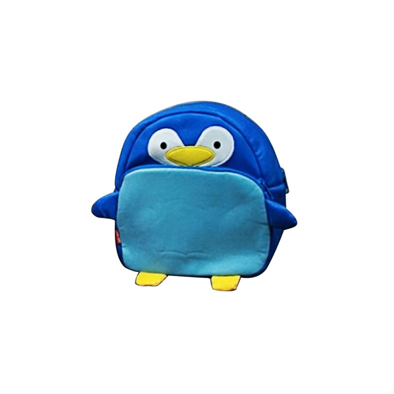Unisex Children Kids Baby PU Leather Cartoon Animal School Bag Schoolbag Backpack for 1-8 Years Old Baby Penguin