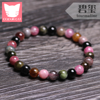Wang Fu crystal natural Brazilian tourmaline bracelet