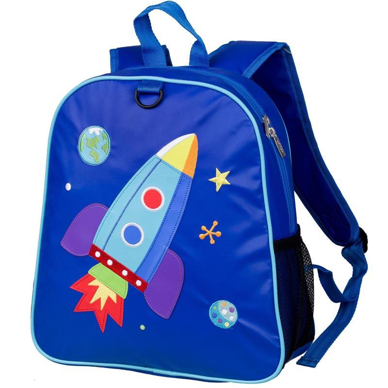Wildkin Olive Kids Rocket Embroidered Backpack School Bag