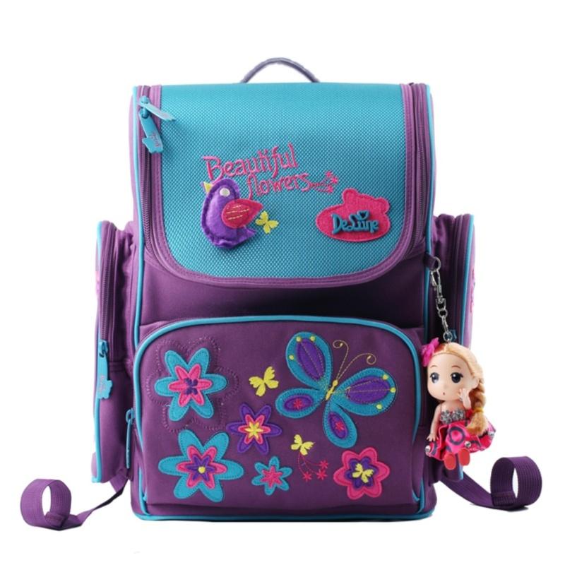 Wolf Who Girl Backpack Free Doll School Bag for Children Travel Bag - intl