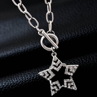 Women decorated with love day Korean five angle a hundred with jewelry clavicle chain
