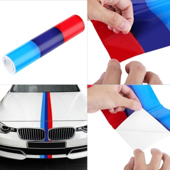 YOSOO 2M*1.5CM M-Colored Car Hood Body Sticker Decal For BMW 3/5/7 Series - intl