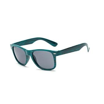 Zebra Print Wood Like Classic Sunglasses(Green)-one size - intl - 2