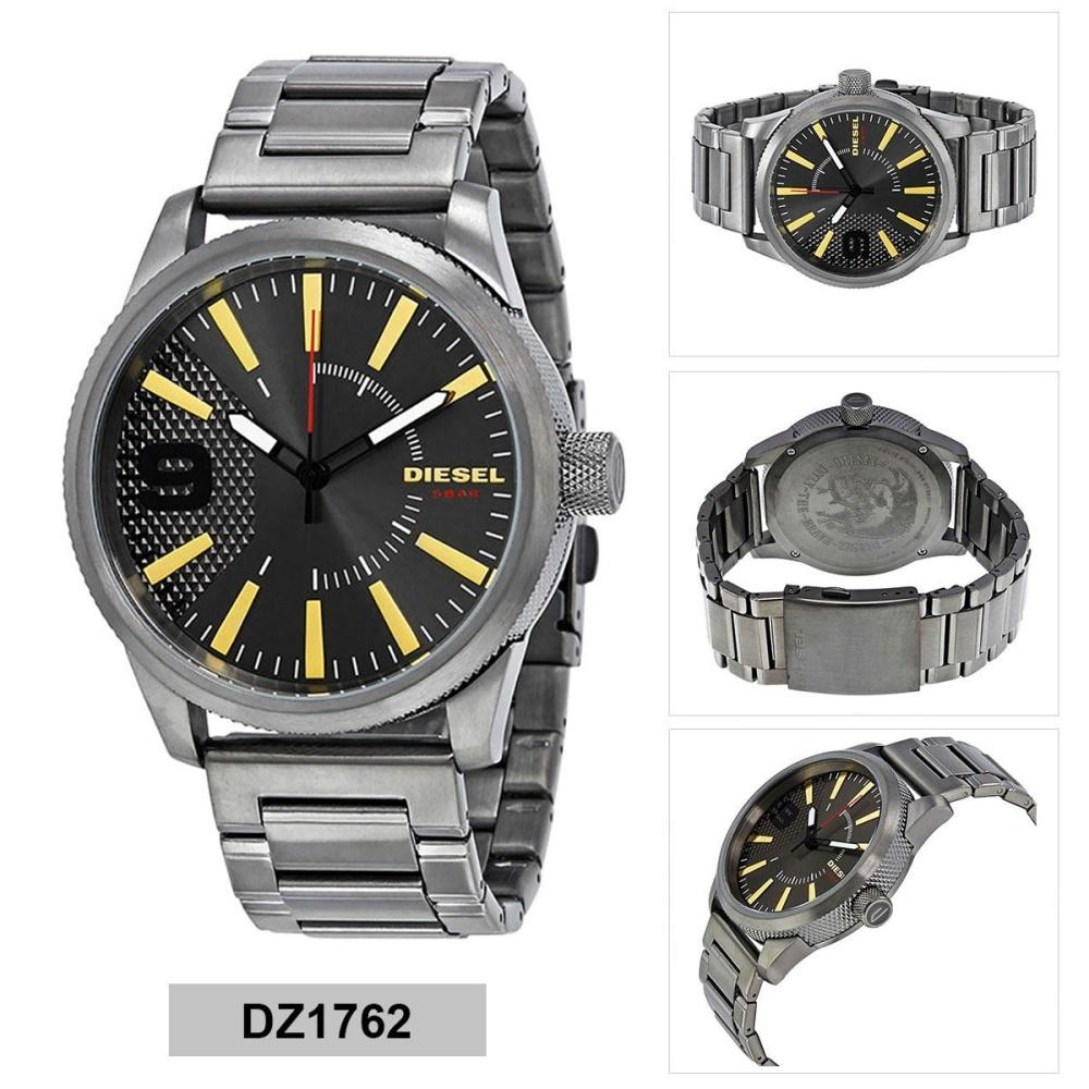 สอนใช้งาน  นครนายก Authentic Diesel Rasp Grey Stainless-Steel Case Stainless-Steel Bracelet Mens DZ1762 2 Years Warranty