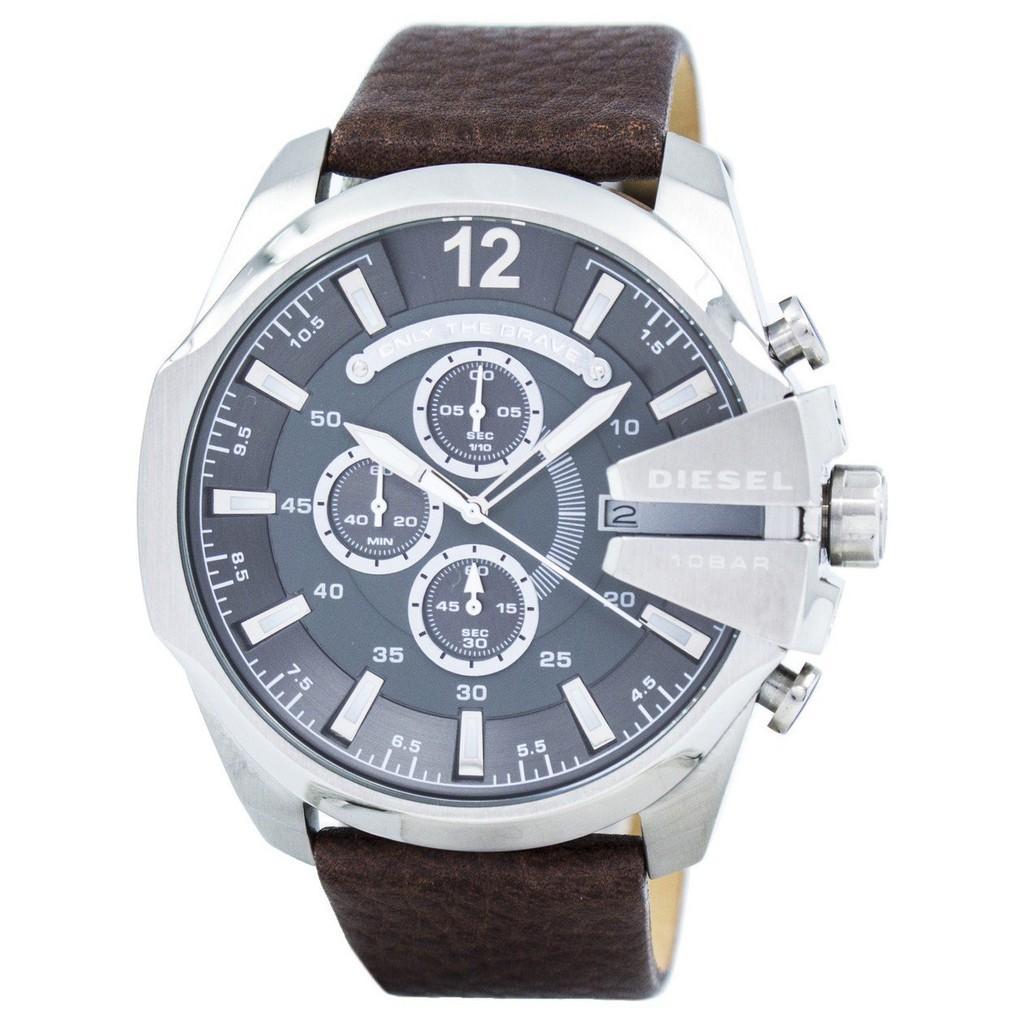 การใช้งาน  ภูเก็ต ดีเซล MEGA CHIEF Chronograph สีเทา DZ4290 นาฬิกาสำหรับผู้ชาย