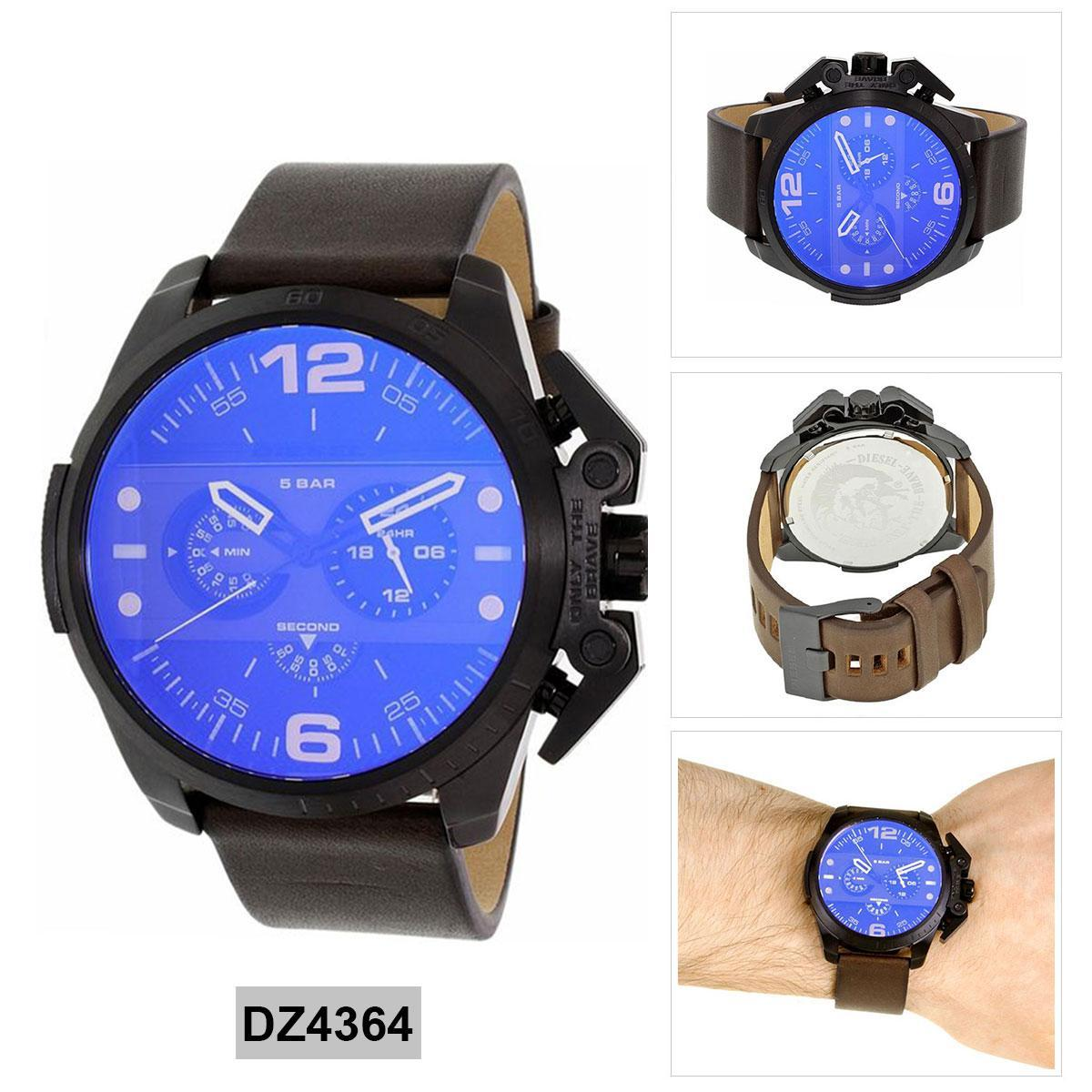 การใช้งาน  นราธิวาส Authentic Diesel IRONSIDE Brown Stainless-Steel Case Leather Strap Mens DZ4364 2 Years Warranty