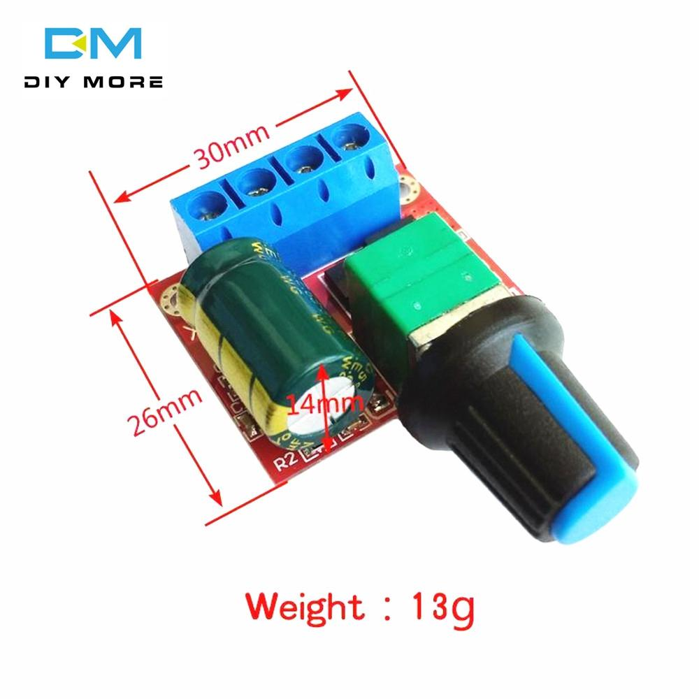 Original Diymore Mini 5A 90W PWM 12V DC Motor Speed Controller Module DC-DC  4 5V-35V Adjustable Speed Regulator Control Governor Switch 24V For