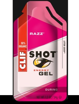 Clif Shot Energy Gel Razz 24 Pack With Free Gift