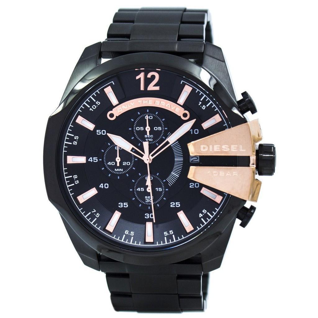 การใช้งาน  เพชรบุรี ดีเซลควอตซ์ Chronograph สีดำ Dial DZ4309 Mens นาฬิกา