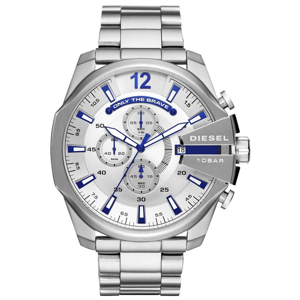 ยี่ห้อนี้ดีไหม  ยะลา ดีเซล Timeframes MEGA CHIEF นาฬิกาควอตซ์ที่เที่ยงตรง DZ4477 Mens นาฬิกา