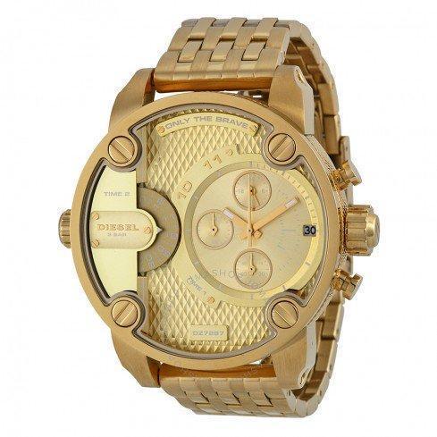 ยี่ห้อไหนดี  พังงา Diesel_Little Daddy Men Gold 51mm Dial Gold Strap Chronograph Quartz Watch DZ7287
