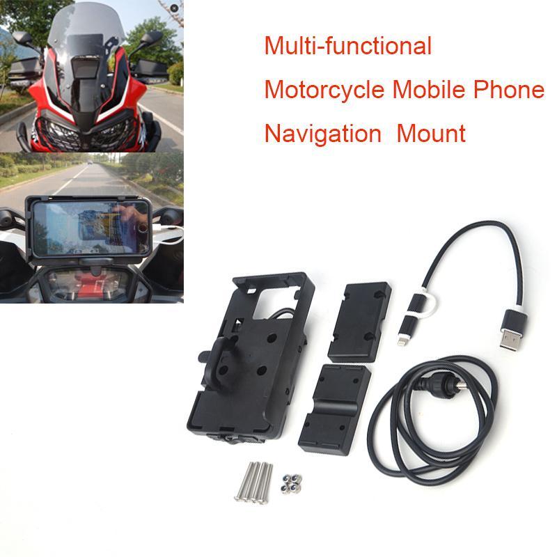 Detail Gambar For BMW R1200GS r1200 GS Handheld GPS Navigator USB Charger Motorcycle Phone Navigation Holder Africa Twin CRF1000L ADV 800GS Terbaru