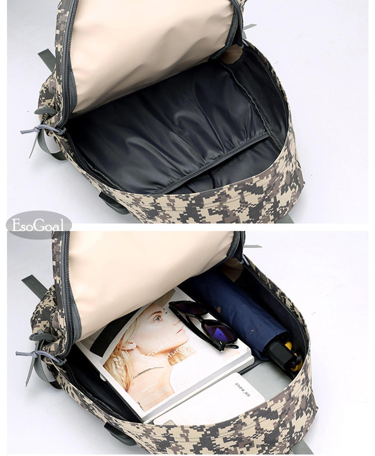 Detail Gambar EsoGoal Tas Ransel Pria Tas Travel Backpack Anti-Thief Travel Outdoor Business Casual 17.3 Inch Waterproof Laptop Backpack For Men Women ...